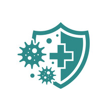Bacteria Protection Icon Isolated On White Background. Vector Illustration.