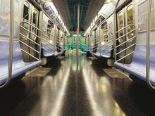Subway Car Interior With Color...