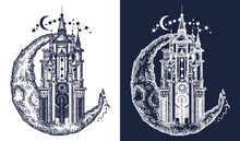 Medieval Castle On The Moon Ta...