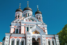 The Alexander Nevsky Cathedral (Aleksander Nevski Cathedral) Is An Orthodox Cathedral. It Was Built In A Typical Russian Revival Style Between 1894 And 1900 In Tallinn, Estonia
