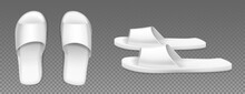 White Slippers Top And Side Vi...