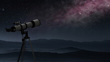 Telescope Placed In A Mountain...