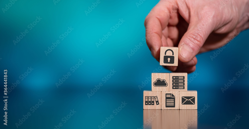 Fototapeta Concept of data protection
