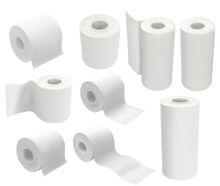 Toilet Paper Roll Isolated On ...