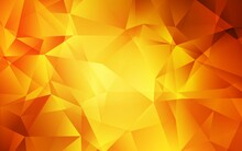 Light Orange Vector Polygonal ...