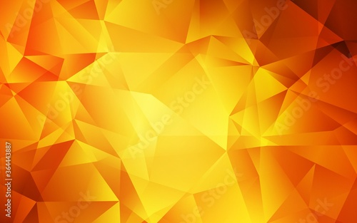 Light Orange vector polygonal template Tapéta, Fotótapéta