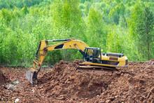 Clay Mining. The Yellow Excava...