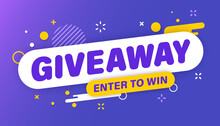 Giveaway Banner. Post Template...