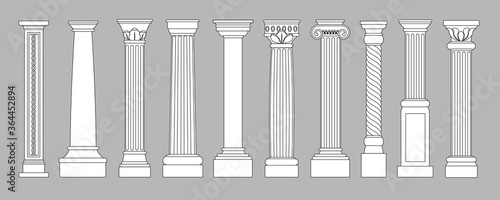 Ancient pillars Wallpaper Mural
