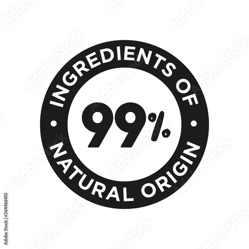 Fotografie, Obraz 99% ingredients of natural origin icon