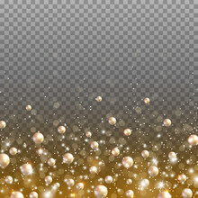 Gold Glitter Particles And Lig...