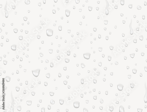 Obraz na plátne Water rain drops or steam shower texture isolated on white background