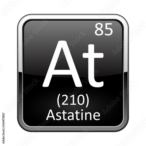 The periodic table element Astatine. Vector illustration Wallpaper Mural