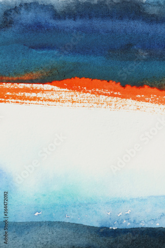Abstract watercolor and acrylic flow blot painting. Color canvas texture background.