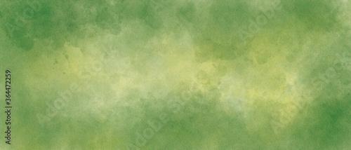 Fotografie, Obraz ビンテージ風の緑の水彩テクスチャ背景