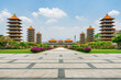 canvas print picture - Awesome view of Fo Guang Shan Buddha Museum, Kaohsiung, Taiwan