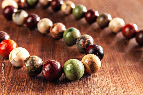 Valokuvatapetti beads made of ural Jasper