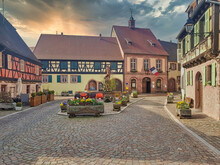 Alsace. Colorful Traditional H...