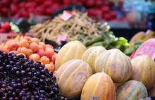 Colorful Summer Fruits On A Fa...