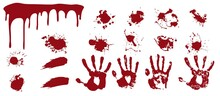 Bloody Spray And Handprints. R...