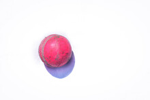 Pink Cricket Ball Isolated On ...
