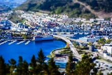 Beautiful City Of Bergen On Th...