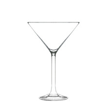 Martini Glass Isolated On White. Hand Drawn Illustration. Pencil Sketch Of Empty Glassware For Alcohol Drink. Design Element For Bar And Restaurant Menu, Recipes, Flyers.