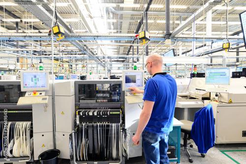 Obraz na plátně production and assembly of microelectronics in a hi-tech factory