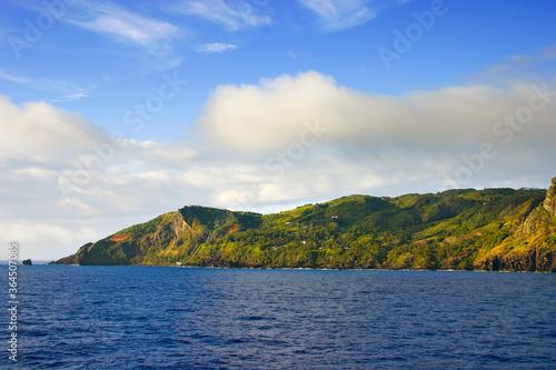 Carta da parati Aadmstown on Pitcairn Island in the South Pacific