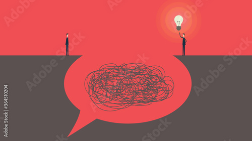 Fototapeta Communication and problem solving. talk concept speech bubbles Vector Illustration obraz