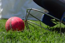 Cricket Ball And Halmet Isolat...