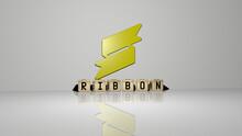 3D Illustration Of Ribbon Grap...