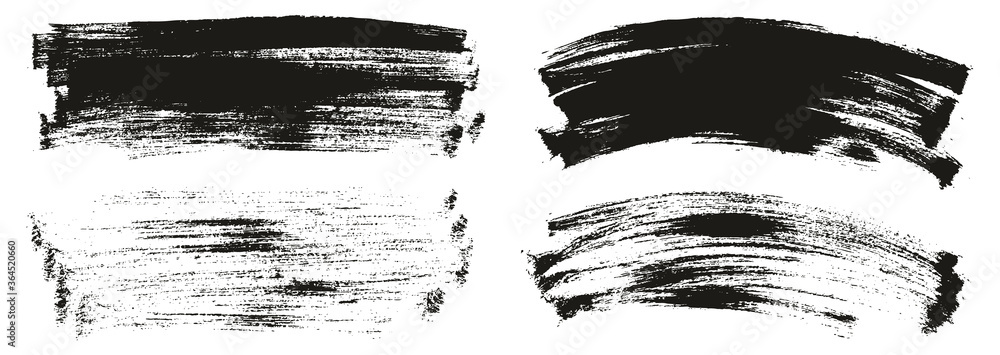 Fototapeta Flat Paint Brush Thin Long & Curved Background Mix High Detail Abstract Vector Background Mix Set