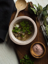 Traditional Rustic Leek And Po...