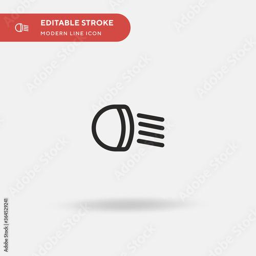 Fototapeta Light Simple vector icon. Illustration symbol design template for web mobile UI element. Perfect color modern pictogram on editable stroke. Light icons for your business project obraz na płótnie