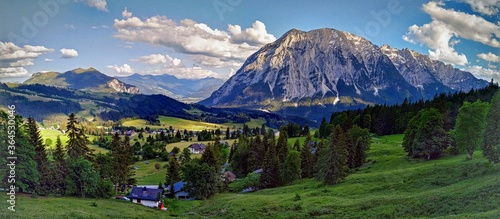 Grimming Mountain Austria Styria Canvas Print
