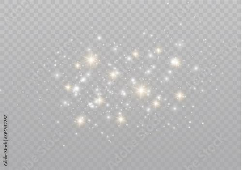 Photo Sparkling dust particles.