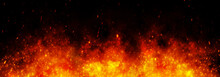 Fire Embers Particles Over Bla...