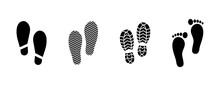 Footprint Icon Set - Vector Il...