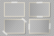 Vector Set Of Beige Rectangula...