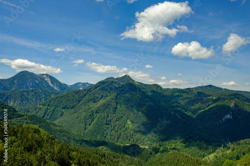 Fototapeta mountain landscape in the austrian national park kalkalpen obraz na płótnie