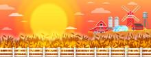 Organic Farm Vector Landscape ...