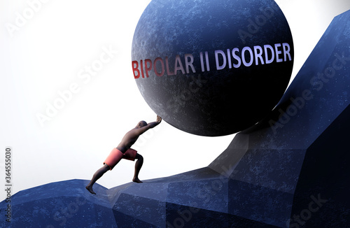 Fotografija Bipolar ii disorder as a problem that makes life harder - symbolized by a person
