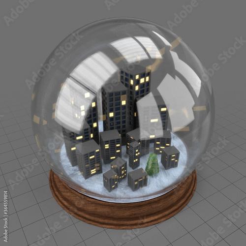 Fototapeta City snow globe obraz