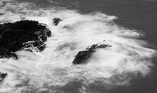 Waves Breaking Over Rocks, Cor...