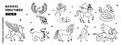 Magical creatures set Slika na platnu