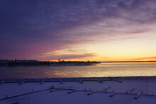 Sunset In Winter Over Kingston...