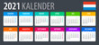 2021 Calendar - vector template graphic illustration - Netherlands version