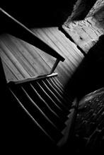 Drewniane Schody I Podłoga W ...