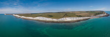 The Drone Aerial View Of Beach...